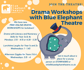 New free drama sessions on Mondays and Fridays