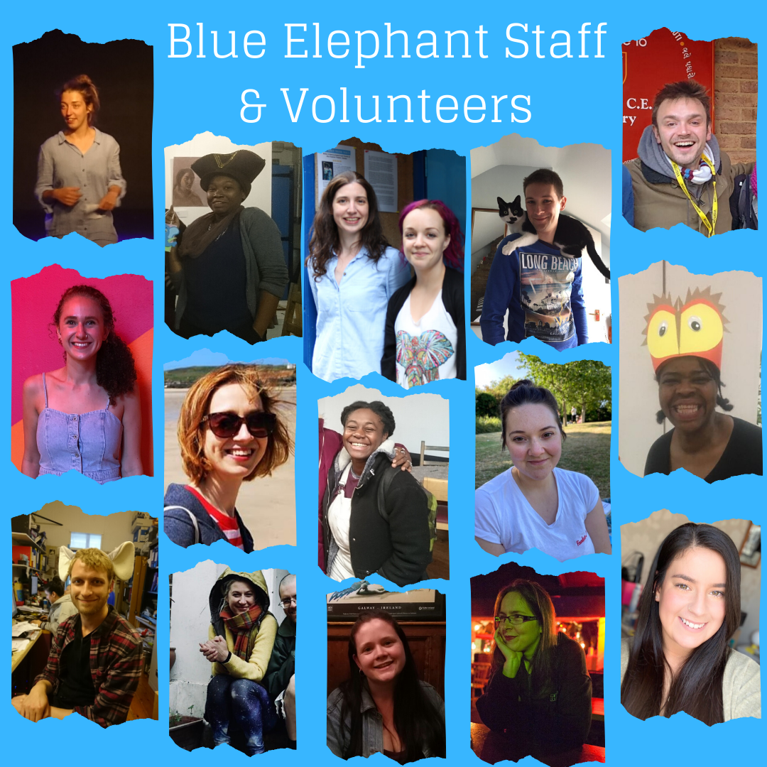 Composite picture of Blue Elephant Theatre staff and volunteers